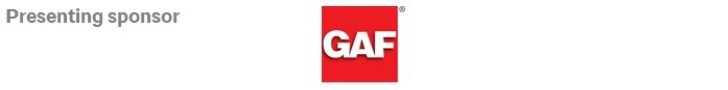 Thank you to our Sponsor, GAF